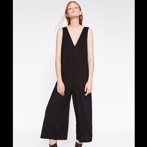 fded89c2e9e Zara TRF Ribbed Jumpsuit